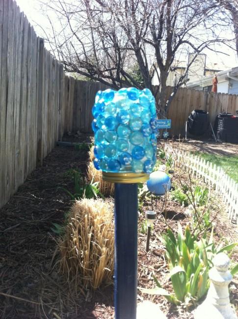 Glass Marble Garden Solar Light