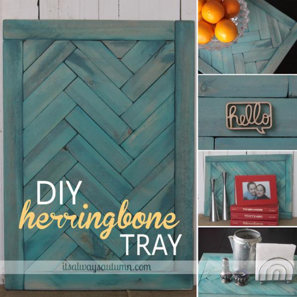 DIY herringbone tray