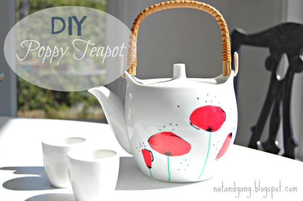 DIY Painted Teapot