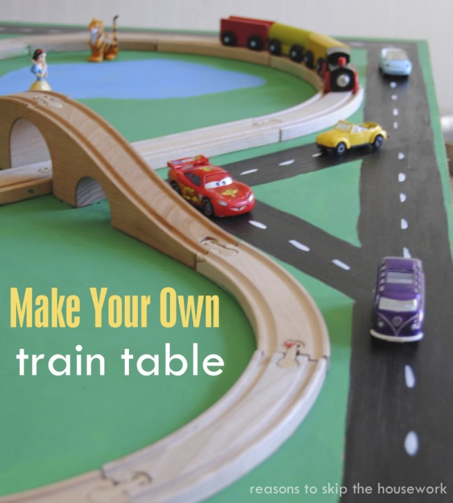 how to make a kids train table oh my creative. Black Bedroom Furniture Sets. Home Design Ideas