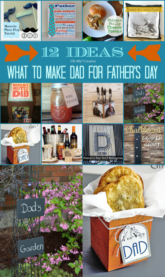 Most dads don't need anything fancy or expensive, but really appreciate a handmade gift. Dad will surly love one of these 12 Ideas for What to Make Dad for Father's Day  |  OHMY-CREATIVE.COM