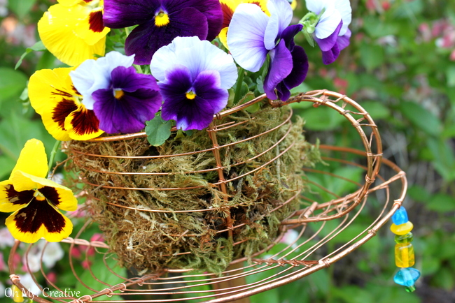 Goodwill Trash To Treasure Teacup Garden Stake - a great repurposed or upcyle project and DIY garden decor!   OHMY-CREATIVE.COM