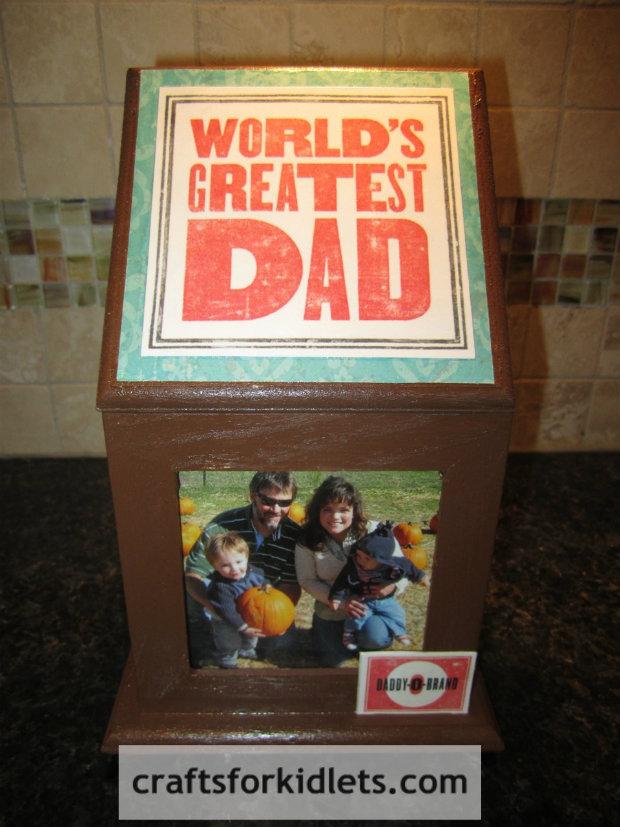 Fathers-Day-Gift-Craft-photo-box-