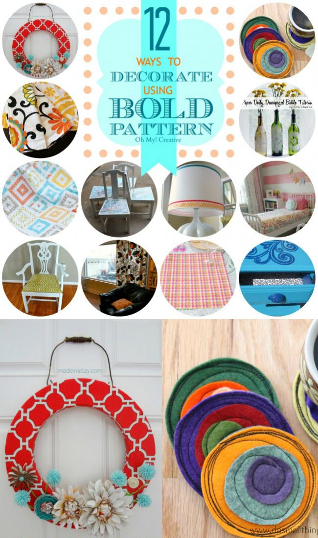 12 Ways to Decorate Using Bold Pattern  |  OHMY-CREATIVE.COM