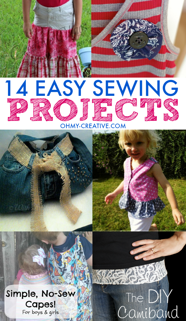 14 Easy Sewing Projects | OHMY-CREATIVE.COM
