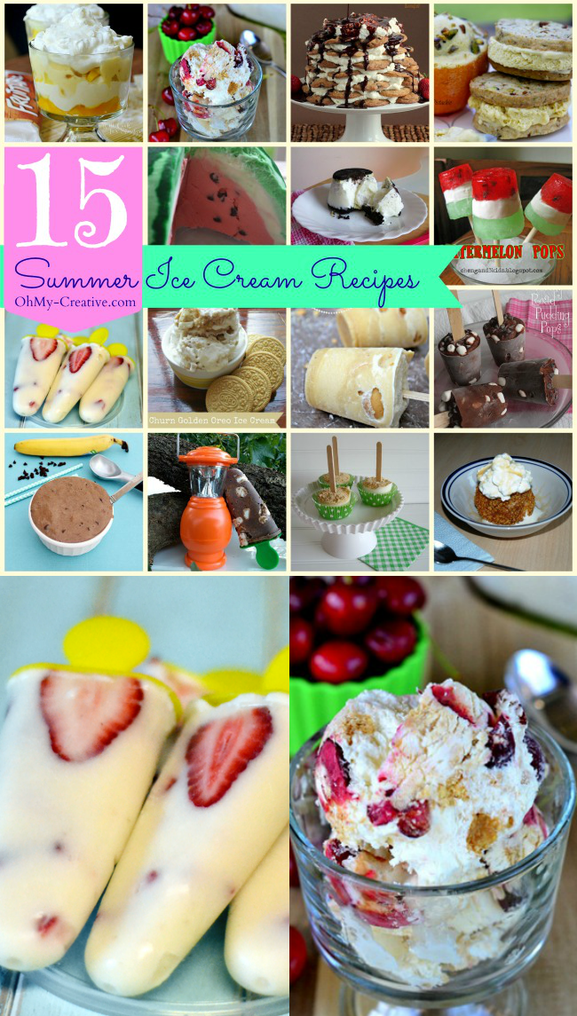 15 Summer Ice Cream Recipes  |  OHMY-CREATIVE.COM
