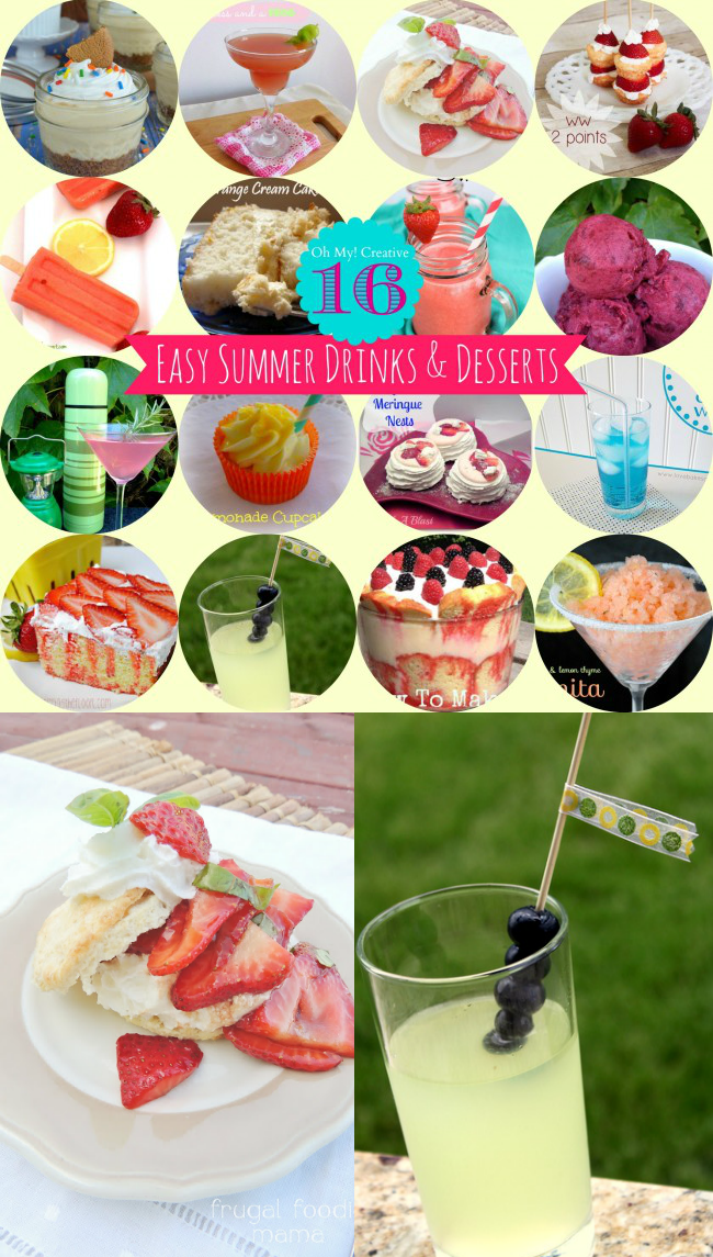 16 Easy Summer Drinks and Desserts  |  OHMY-CREATIVE.COM