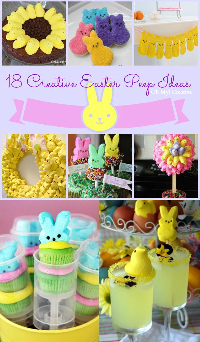 18 Creative Easter Peep Ideas | OHMY-CREATIVE.COM