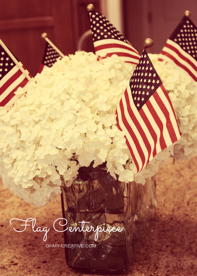 Create a Patriotic or 4th of July Flag Centerpiece | OHMY-CREATIVE.COM