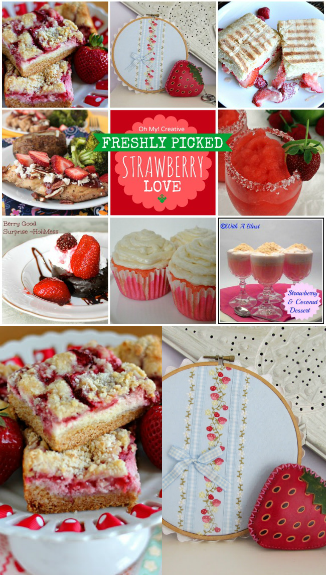 Freshly Picked Strawberry Recipes and Crafts  |  OHMY-CREATIVE.COM
