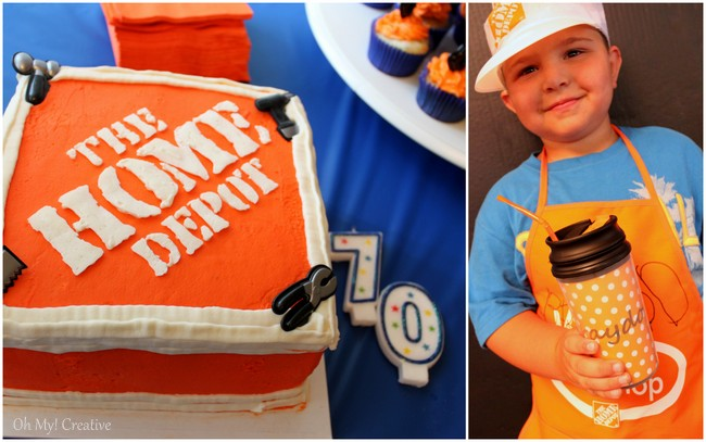 Home Depot Construction Birthday Party Theme - OhMy-Creative.com
