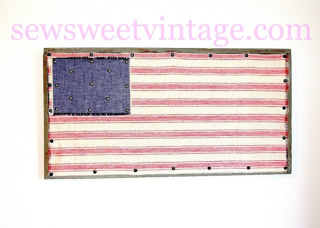 Folk Art Fabric Flag