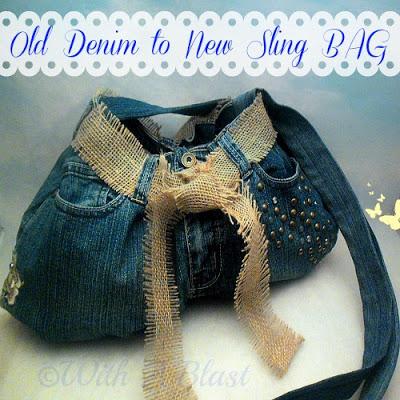 Old Denim to New Sling Bag