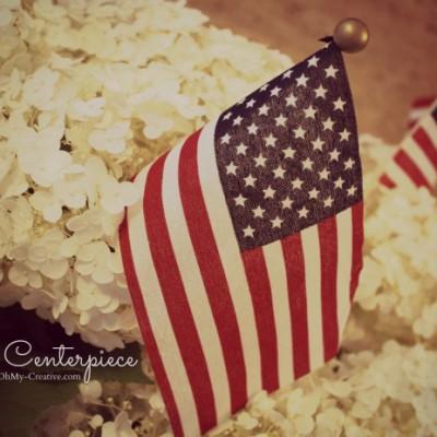 Easy Patriotic Flag Centerpiece