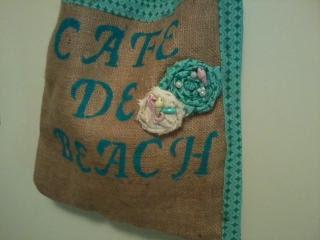 diy burlap bag beach purse