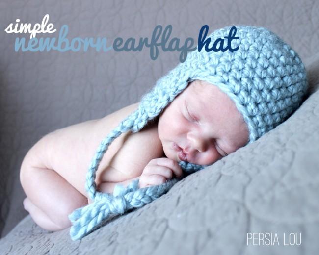 newborn ear flap crochet hat