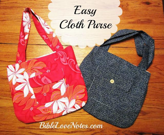 sew a handmade purse