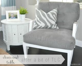 reupholstered chair upcyclye