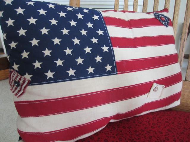 Vintage Flag Pillow