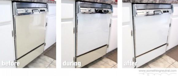 Dishwasher color change