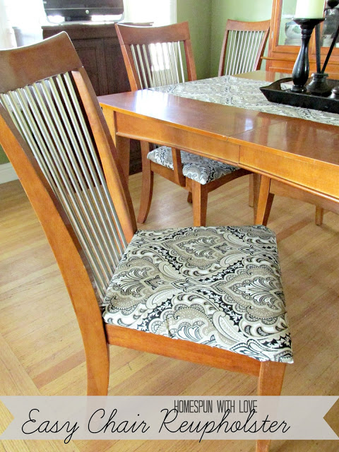 dining room chair reupholstering oh my creative. Black Bedroom Furniture Sets. Home Design Ideas