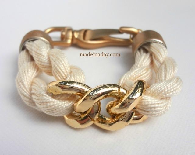 DIY Rope-Chain-Bracelet