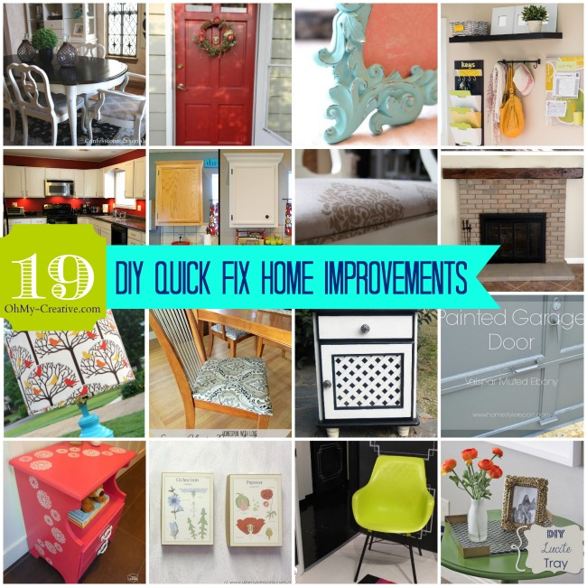 Whimsy wednesday link party 77 oh my creative for Cheap and easy home improvements