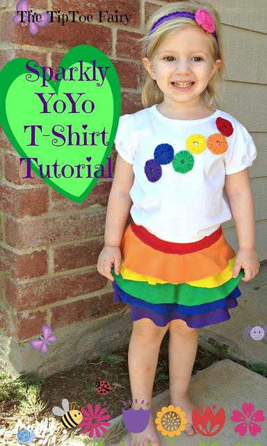 diy rainbow girls top