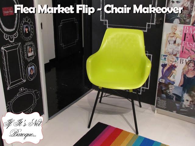 flea market chair makeover