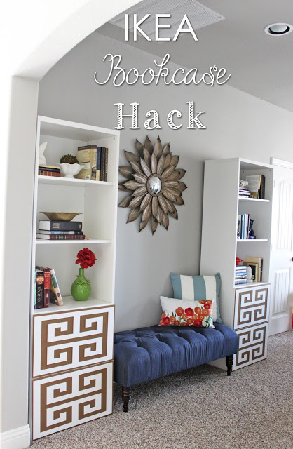 Ikea bookcase makeover oh my creative for Stores like ikea in hawaii