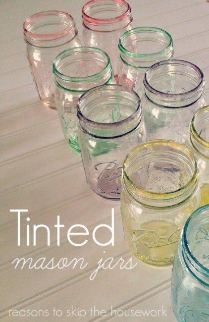 How to tint mason jars with paint