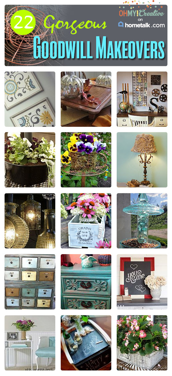 22 Gorgeous Goodwill Makeover Projects