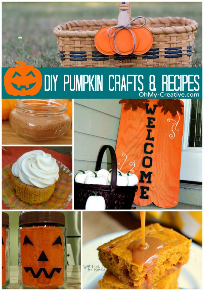 DIY Pumpkin Crafts & Recipes - OhMy-Creative.com