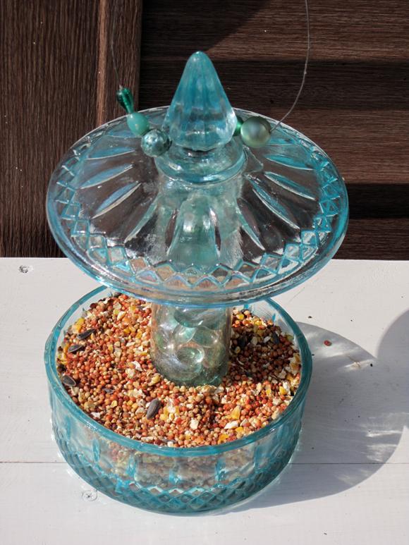Goodwill Candy Jar Birdfeeder
