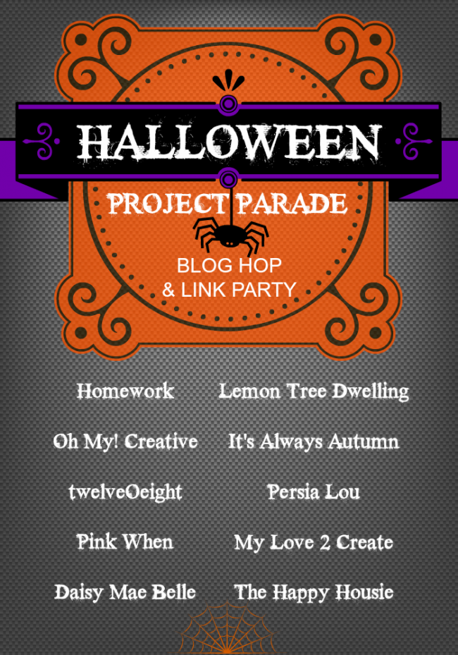 halloween project parade blog hop link party ohmy creativecom - Names For A Halloween Party