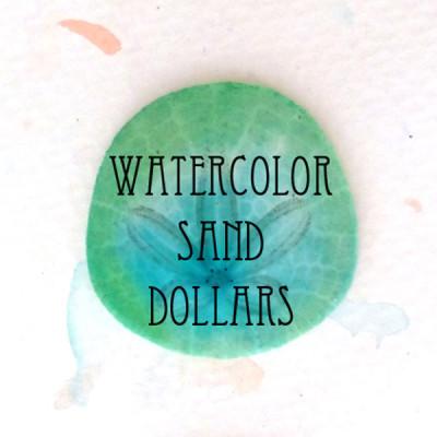 Watercolor Sand Dollars