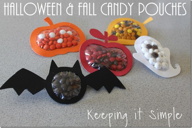 fall candy pouches