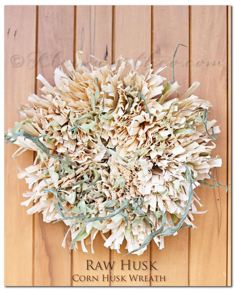 Fall raw husk wreath