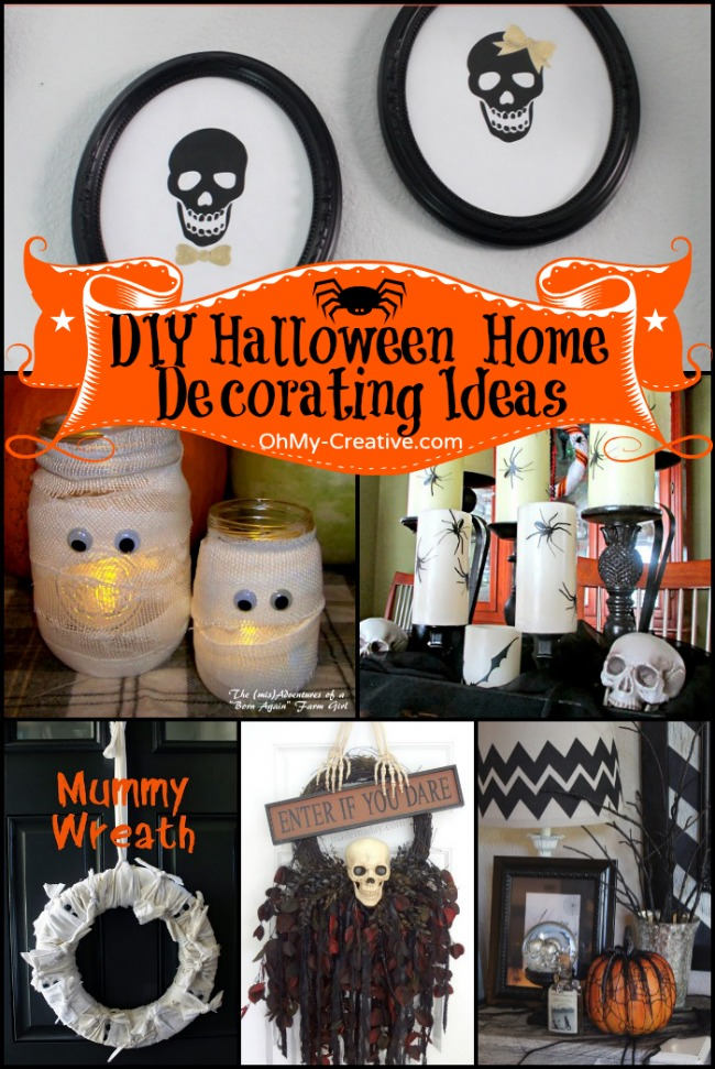 16 do it yourself halloween home decorating ideas oh my creative - Interesting diy halloween wreaths home ...