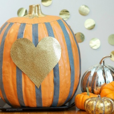 Easy Striped Pumpkins