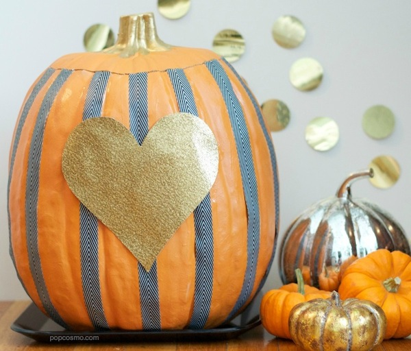 Easy Striped Pumpkins