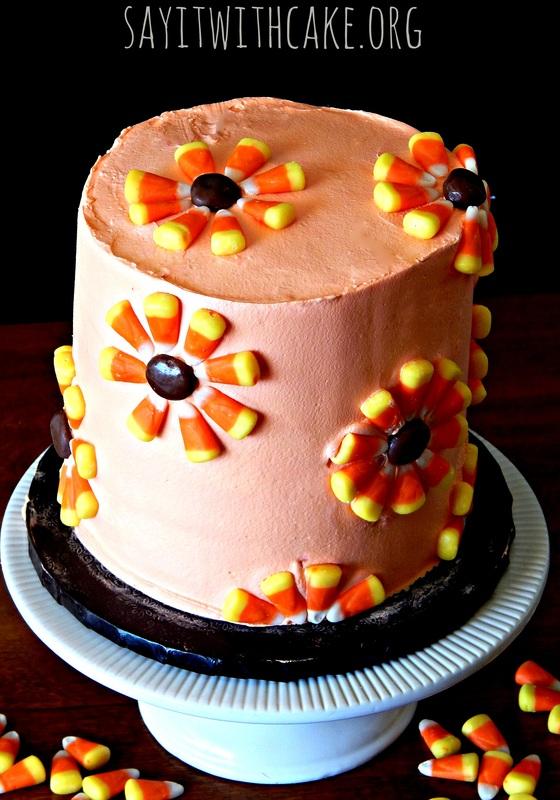 Candy Corn Cake 15 Candy Corn Desserts & Crafts - OhMy-Creative.com   Candy Corn Cupcakes   Candy Corn Desserts   Candy Corn Crafts   Halloween Rice Krispie Treats   Halloween Treats   Candy Corn Marshmallows   Candy Corn Recipe