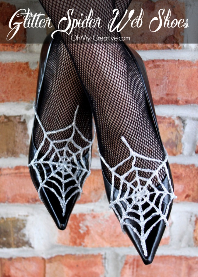 Glitter Spider Web Halloween Shoes 2 - OhMy-Creative.com