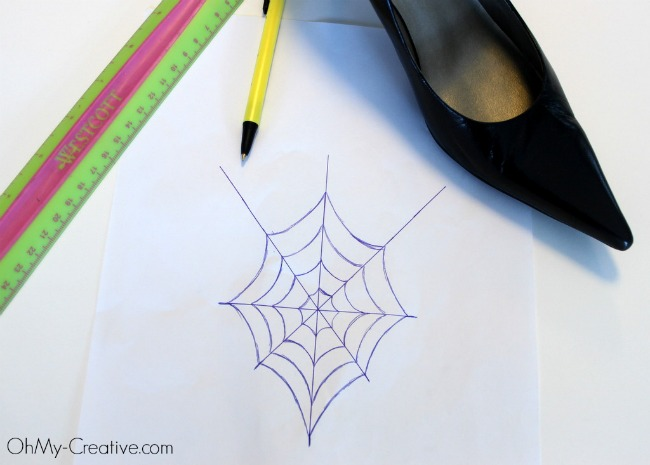 Glitter Spider Web Halloween Shoes 4 - OhMy-Creative.com