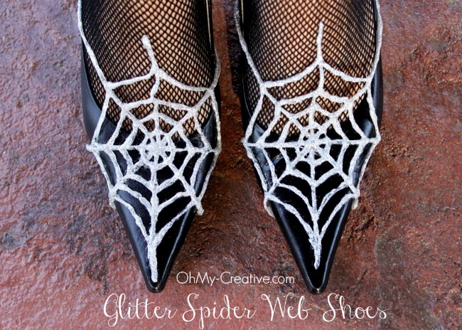 Glitter Spider Web Halloween Shoes 6 - OhMy-Creative.com