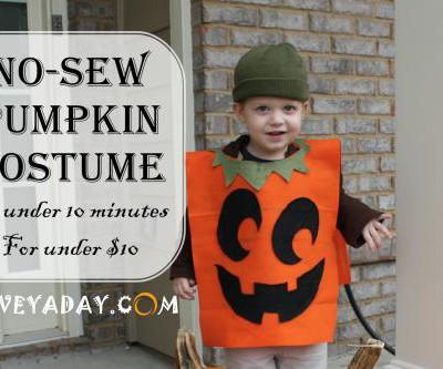 No-Sew Pumpkin Costume