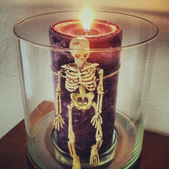 Skeleton candles