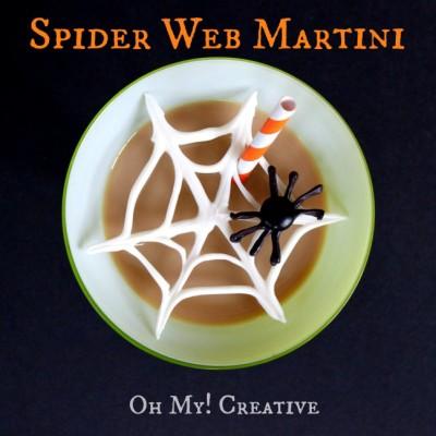 Chocolate Spider Web Martinis