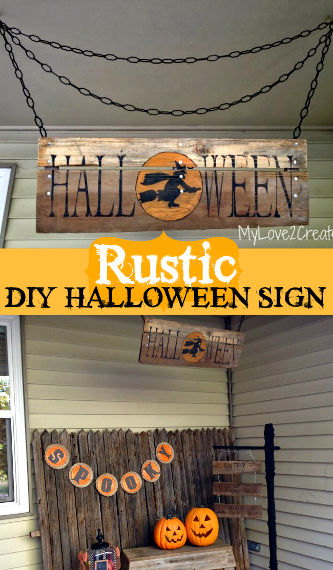 Rustic Diy Halloween Sign Oh My Creative
