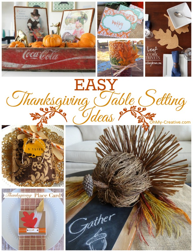Easy Thanksgiving Table Setting Ideas | OhMy-Creative.com